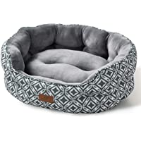 Bedsure 20 Inches Round Super Soft Plush Flannel Puppy Beds