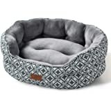 Bedsure Small Dog Bed & Cat Bed, Round Pet Beds for Indoor Cats or Small Dogs, Round Machine Washable Super Soft & Plush…