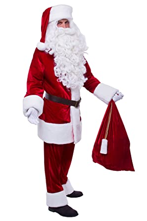 a08fbb618d Amazon.com  Santa Claus Costume Delux (Adult Santa Claus Suit ...