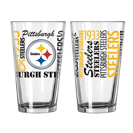 cad161c2679 Image Unavailable. Image not available for. Color  Pittsburgh Steelers  Official NFL 16 fl. oz. Spirit Pint Glass …
