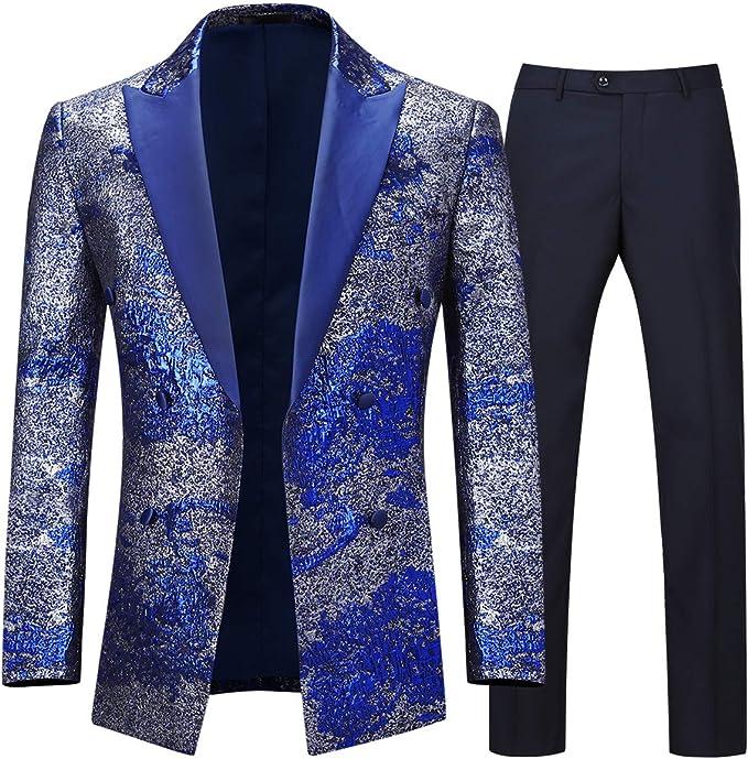 Amazon.com: Boyland Trajes de esmoquin para hombre, 2 piezas ...