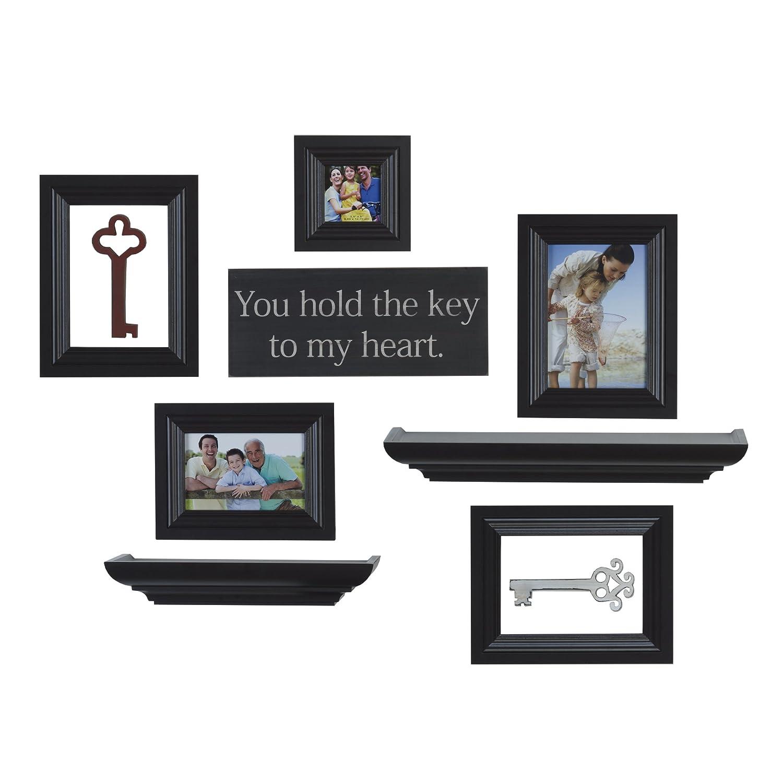 Amazoncom Melannco 10 Piece Shelf Frame Set Espresso