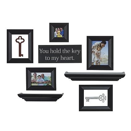 Amazon.com - Melannco 10-Piece Shelf Frame Set (Espresso) -