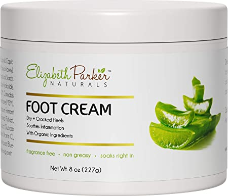 Foot Cream for Dry Cracked Feet and Heels – Anti Fungal Cream for Athletes Foot Treatment – Best Callus Remover for Feet with Shea Butter Aloe Vera Coconut Oil – Fragrance Free Non Greasy 8 oz