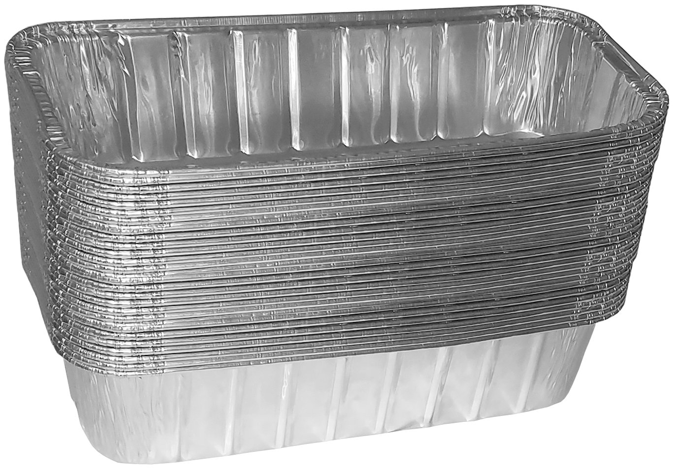 TYH Supplies Aluminum Foil BBQ Grease Drip Pans for Weber Genesis II LX 400 & 600 Series, Summit 400 & 600 Series, and Summit Gold & Platinum 6-Burner Model Gas Grill 9.75'' x 3.75'', 30-Pack