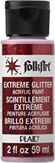 product image for FolkArt Extreme Glitter Acrylic Paint in Assorted Colors (2 oz), 2792, Red