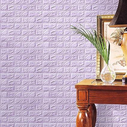 Amazon.com: VIASA 3D DIY Wallpaper PE Foam Wall Stickers Wall Decor ...