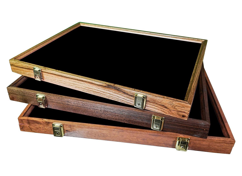 Oak Black Hobbymaster Display Case 24x18x2