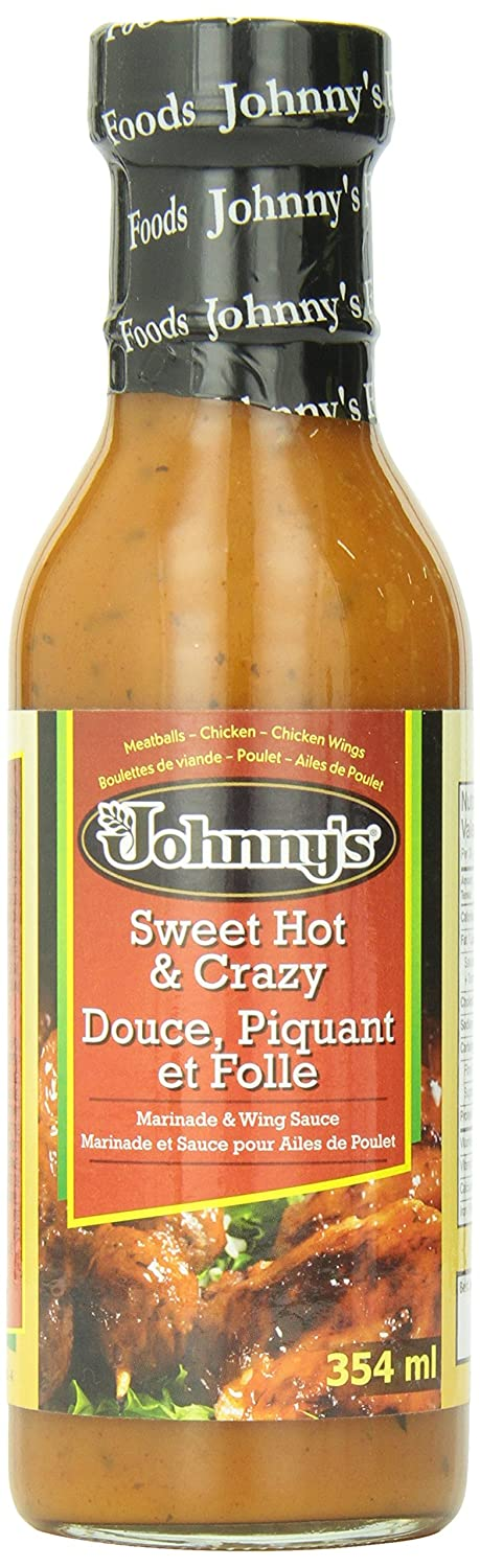 Johnny's Sweet Hot and Crazy Marinade and Wing Sauce, 12 Ounce