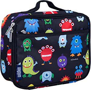 Wildkin Insulated Lunch Box for Boys and Girls, Perfect Size for Packing Hot or Cold Snacks for School and Travel, Mom's Choice Award Winner, BPA-free, Olive Kids (Monsters)