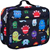Wildkin Lunch Box, Insulated, Moisture Resistant, and Easy to Clean with Helpful Extras for Quick and Simple Organization, Ages 3+, Perfect for Kids or On-The-Go Parents, Olive Kids Design – Monsters