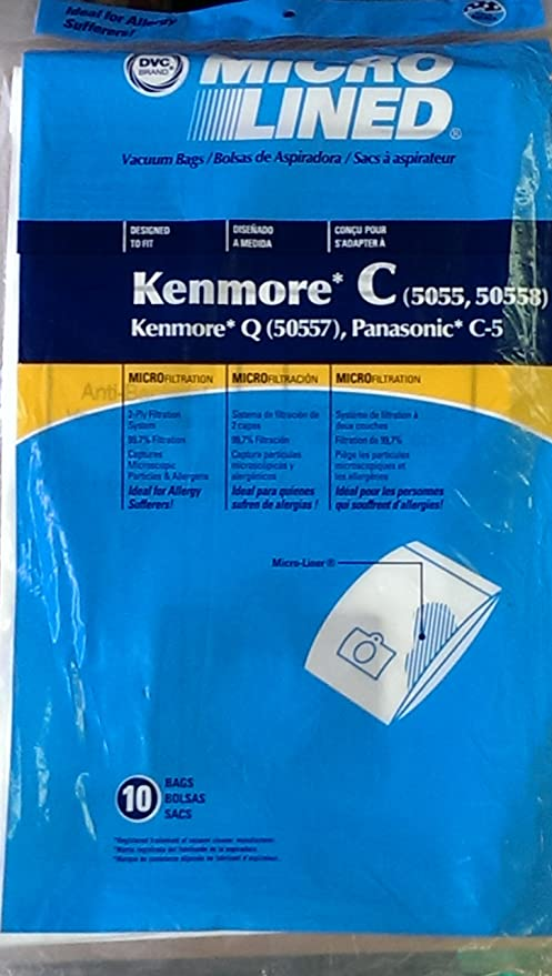 15 Vacuum Bags to fit Kenmore Canister Type C 5055 50557 50558 Q by DVC