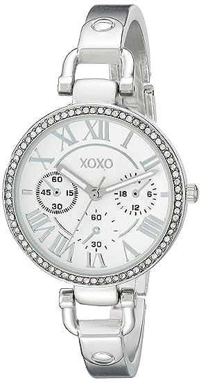 XOXO XO5757 RELOJ DE MUJER CUARZO ANALÓGICO COLOR PLATA: Amazon.es: Relojes