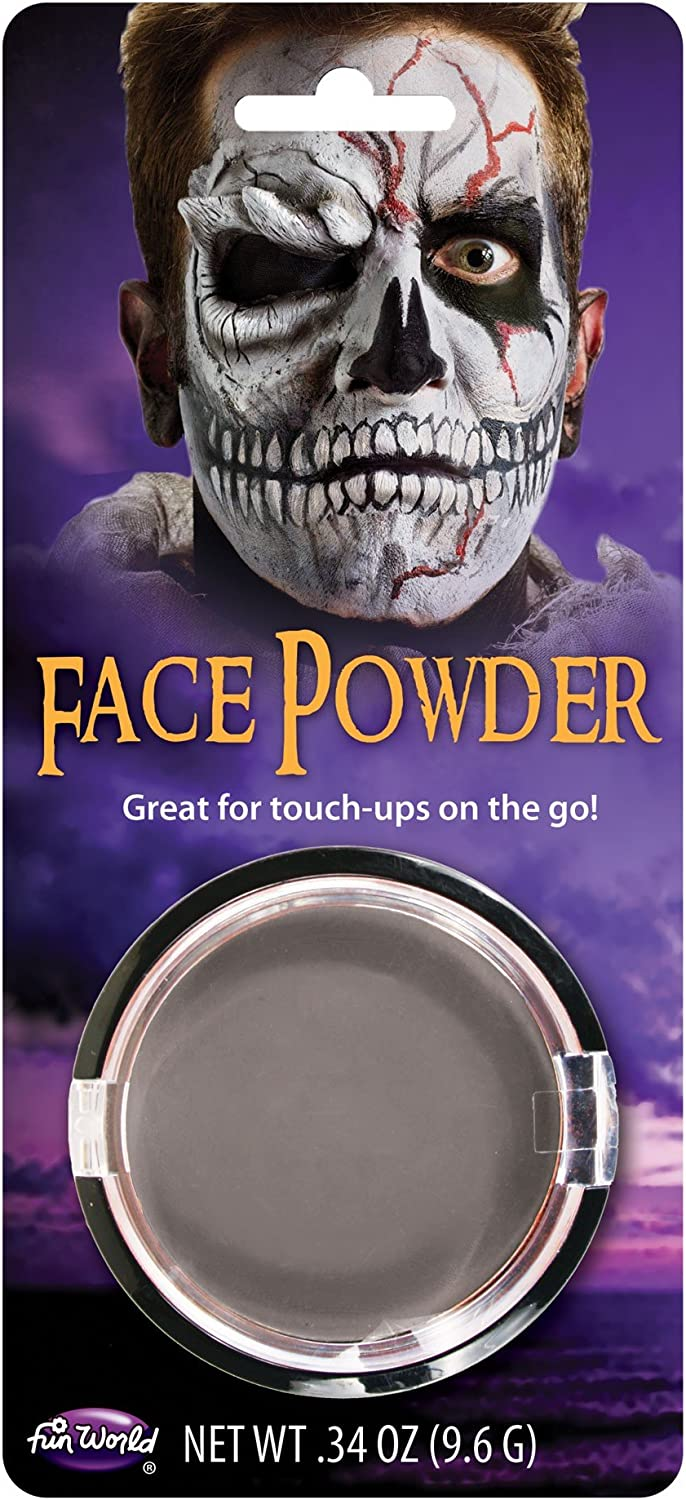 F&W Grey Zombie Pressed Face Powder Foundation Face Makeup Halloween Theatrical