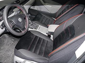 Sitzbezüge K Maniac Für Golf Sportsvan Universal Schwarz Rot Autositzbezüge Set Komplett Autozubehör Innenraum No 4 Kfz Tuning Sitzbezug Sitzschoner Auto