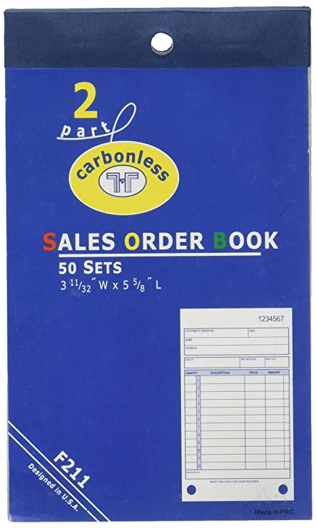 amazon com 6 sales order receipt books carbonless record sheets 5 5