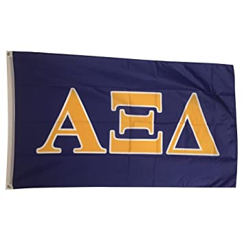 alpha xi delta letter sorority flag greek letter use as a banner large 3 x 5