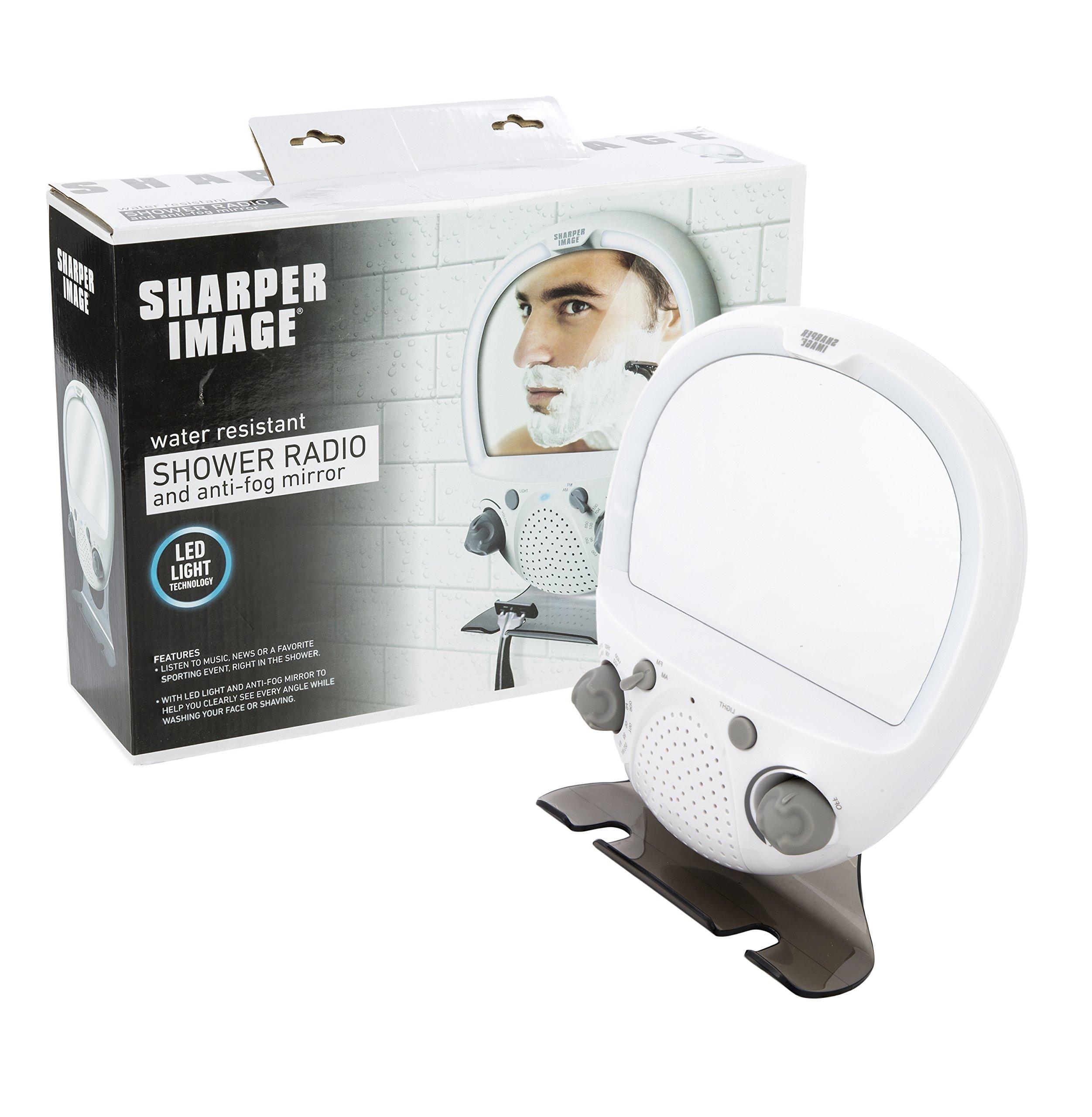 Sharper Image LED Shower Mirror AM/FM Shower Radio