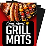 Latest BBQ Grill Mat - Lifetime Replacement Warranty - Set Of 2 Heavy Duty, Non-Stick Grilling Mats - 16 x 13 Inch - Use on Gas, Charcoal, Electric Barbeque, Oven or Smoker