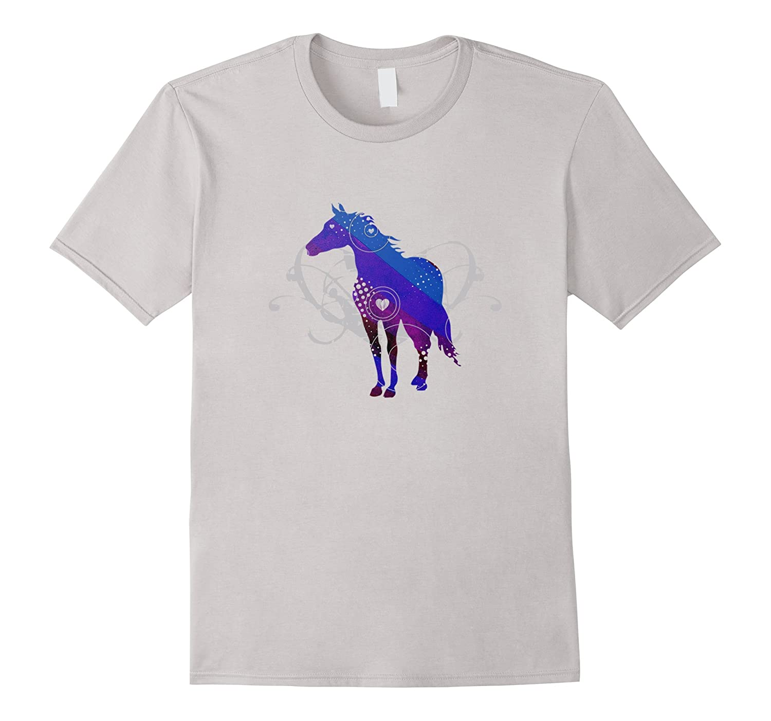 Horse Abstract T-shirt Just A Girl Who Loves Horses Gift Tee-CD