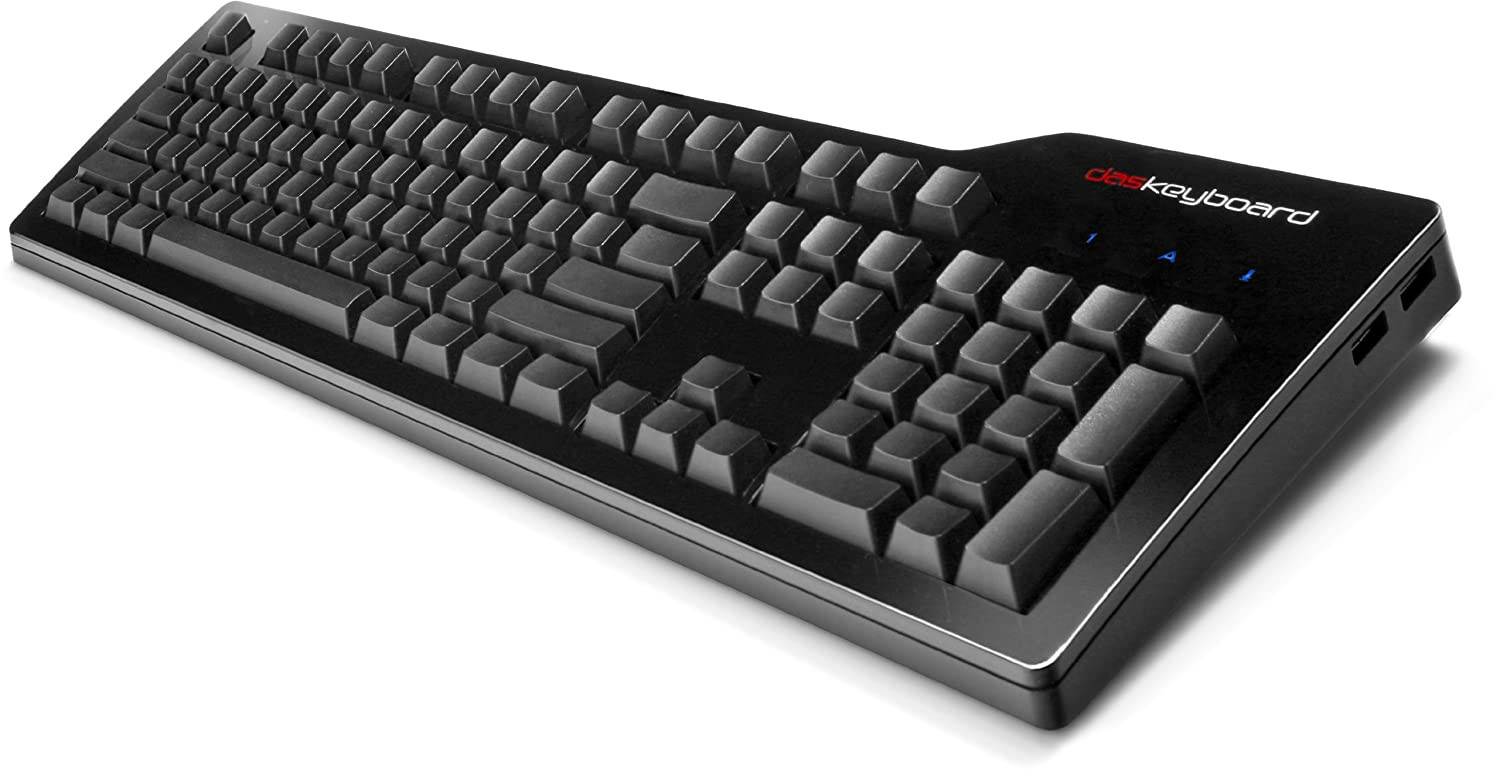 amazoncom das keyboard model s ultimate clicky mx blue mechanical keyboard dask3ultms1 computers accessories