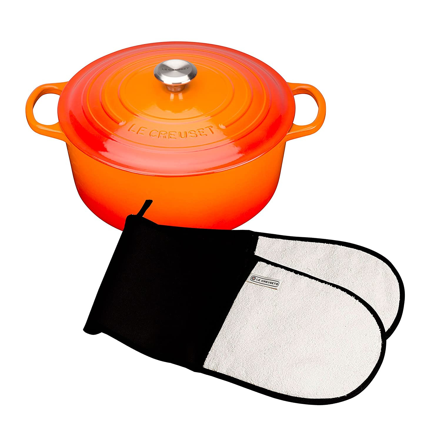 Le Creuset Signature Cast Iron Round Casserole, 18 cm - Almond with Cooling Tool