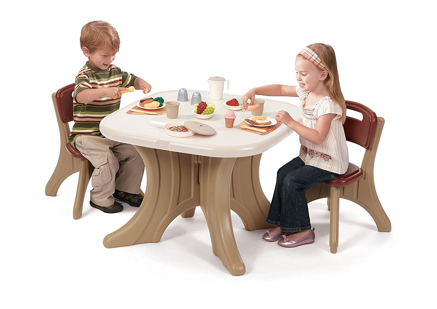 sc 1 st  Amazon.com & Amazon.com: Step2 Traditions Table u0026 Chairs Set: Toys u0026 Games