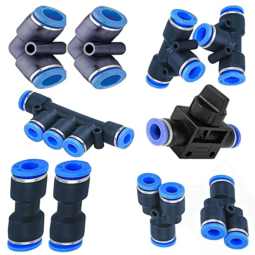 5pc Pnuematic Male Elbow Connector Tube 5//16/'/' X NPT 1//8/'/' Air Push In Fitting