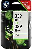 HP C9504EE - Pack de 2 cartuchos de tinta HP 339, negro