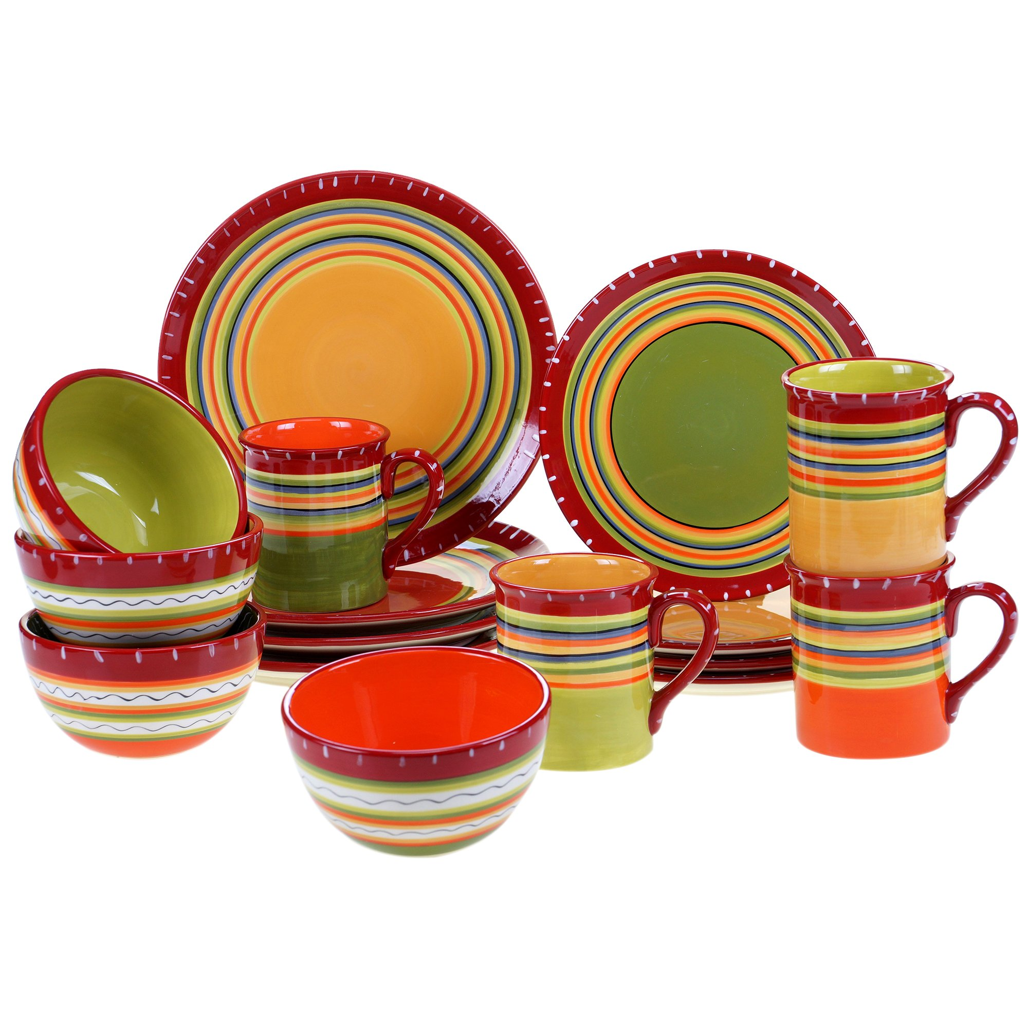 Certified International Corp 89090 Hot Tamale Dinnerware Set, Multicolor by Certified International (Image #1)