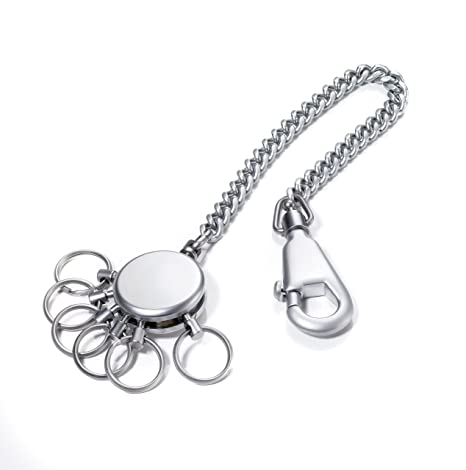Troika Patent Chain Keyholder with 6 Rings (KR1060MA)