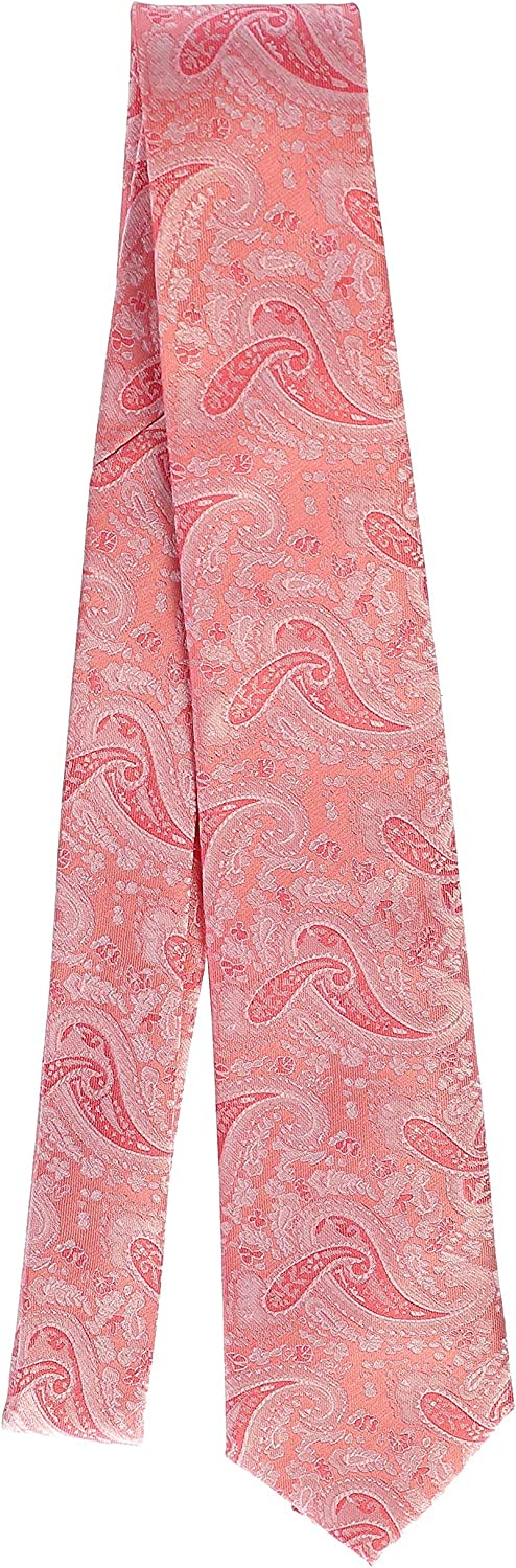 Coral Gioberti Mens Formal 4pc Paisley Vest Necktie Bowtie and Pocket Square 2X Large