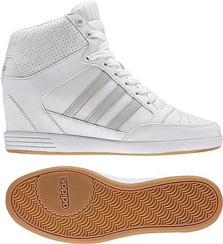 adidas Damen Super Wedge W Sneaker Low Hals Elfenbein ftwbla