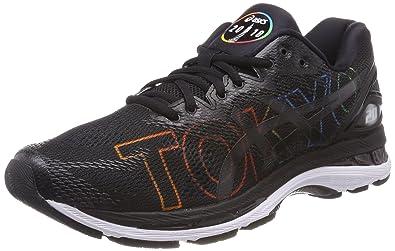 88e5ca305e4c93 ASICS Gel-Nimbus 20 Tokyo, Chaussures de Running Compétition Femme, Noir  Black