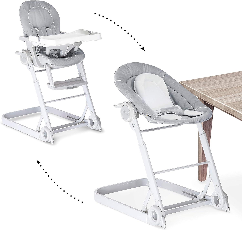 Hauck/Sit N Care/Chaise Haute Bébé 7 en 7/ Transat Bébé et Chaise pour  Enfants/avec Position Couchée/Réducteur, Plateau Repas, Roues/Réglable en