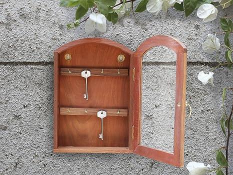 Merveilleux Store Indya U2013 Wooden Key Cabinet With 8 Hooks U2013 Wall Mounted Key Holder Box  U2013