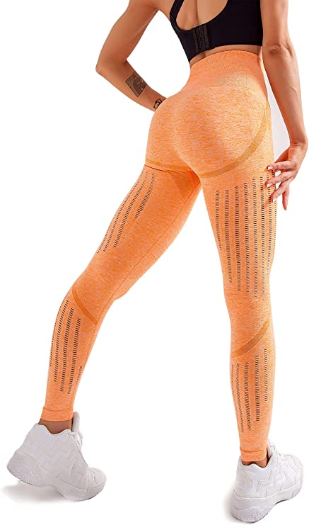 Amazon.com: Women's High Waist Seamless Leggings Ankle Yoga Pants Squat Proof Workout Tight: Clothing
