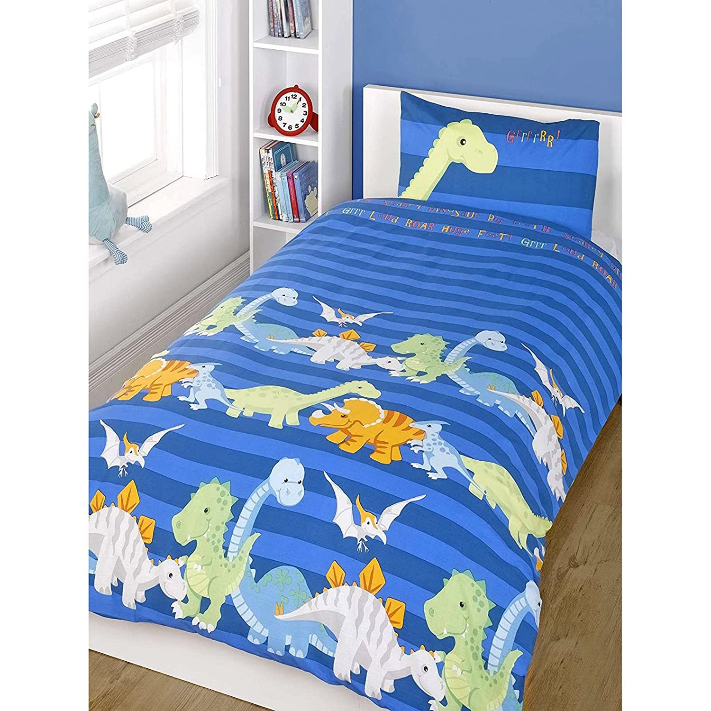 Just Contempo Parure de lit avec Motif Emoji, Motif Floral Rose et Bleu, Double Saffron and Saffron 5056149726702