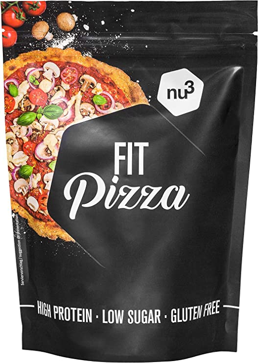 nu3 Fit Pizza - Haina mix para pizza sin gluten - Pan bajo en carbohidratos - 270 g de harina proteica sin levadura - 100% pizza vegana - 15g de ...