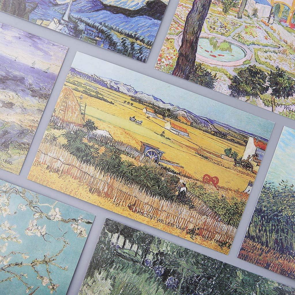 estilo retro vintage Fafalloagrron 30 hojas de cuadros para famosa persona tarjetas de felicitaci/ón tarjeta de regalo de Navidad