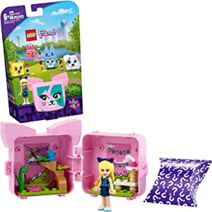 LEGO Friends Stephanie's Cat Cube 41665 Building Kit; Kitten Toy for Kids with a Stephanie Mini-Doll Toy; Cat Toy Makes a Creative Gift for Kids Who Love Portable Playsets, New 2021 (46 Pieces)