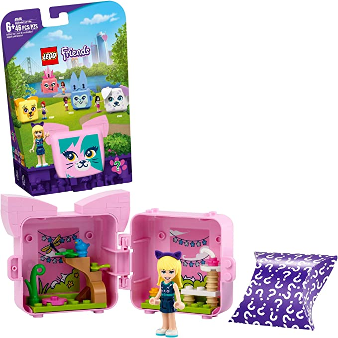 LEGO Friends Stephanie's Cat Cube 41665 Building Kit; Kitten Toy for Kids with a Stephanie Mini-Doll Toy; Cat Toy Makes a Creative Gift for Kids Who Love Portable Playsets, New 2021 (46 Pieces) | Amazon