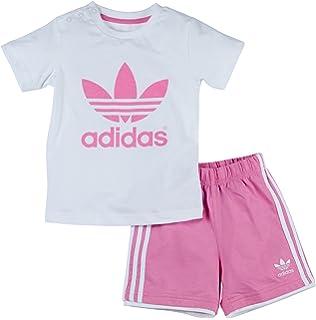 Adidas Tee Shirt Flower Bébé Fille Blanc Amazonfr