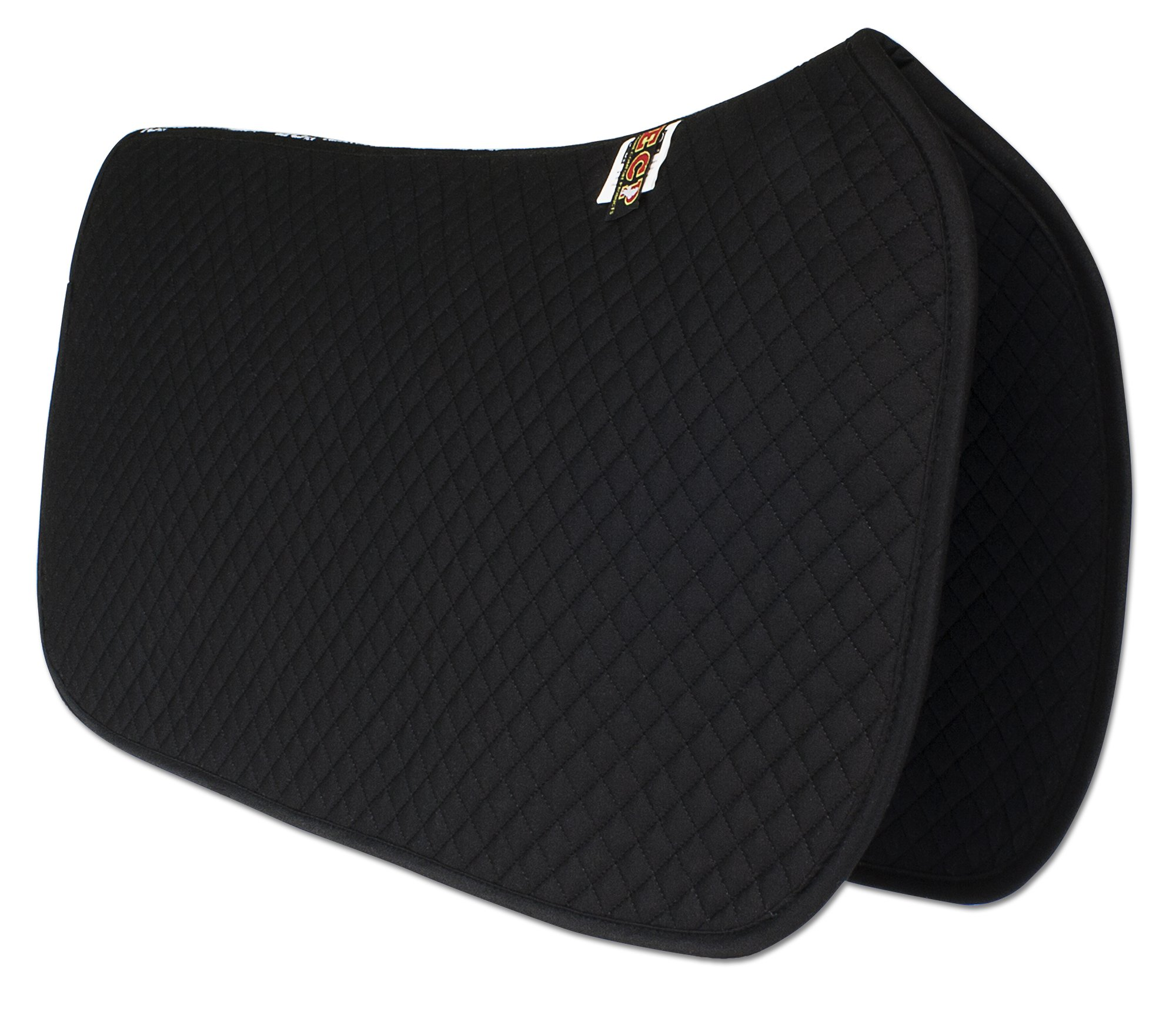ECP Western All Purpose Diamond Quilted Cotton Saddle Pad Color Black