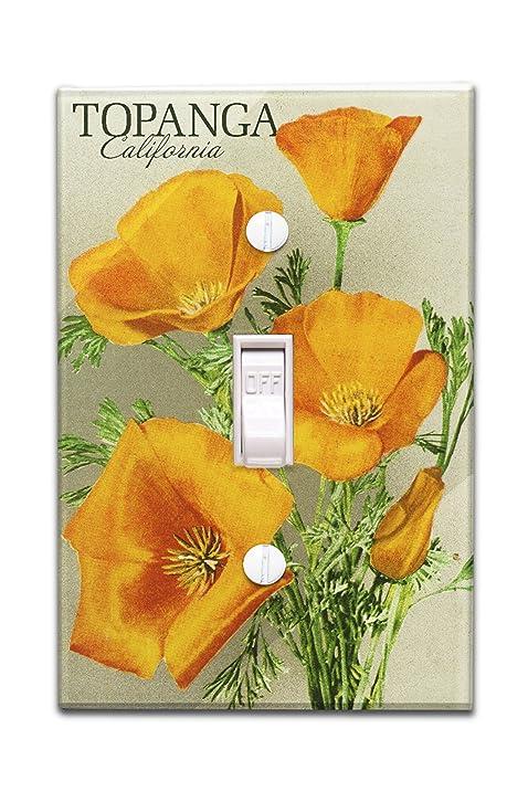 Amazon topanga california poppy flowers the californian topanga california poppy flowers the californian vintage poster light switchplate cover mightylinksfo
