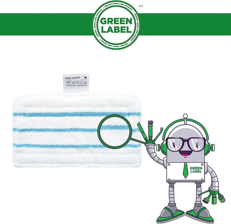 Reemplaza a FSMP20 FSM1630 FSM1610 FSM1620 FSM1500 FSMH1621 Green Label Empaque de 6 Almohadillas Est/ándares para Mopas a Vapor Black+Decker: FSM1600