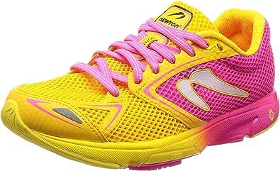 newtonrunning Distance 7, Zapatillas de Running para Mujer, Rosa (Pink/Yellow 001), 39 EU: Amazon.es: Zapatos y complementos