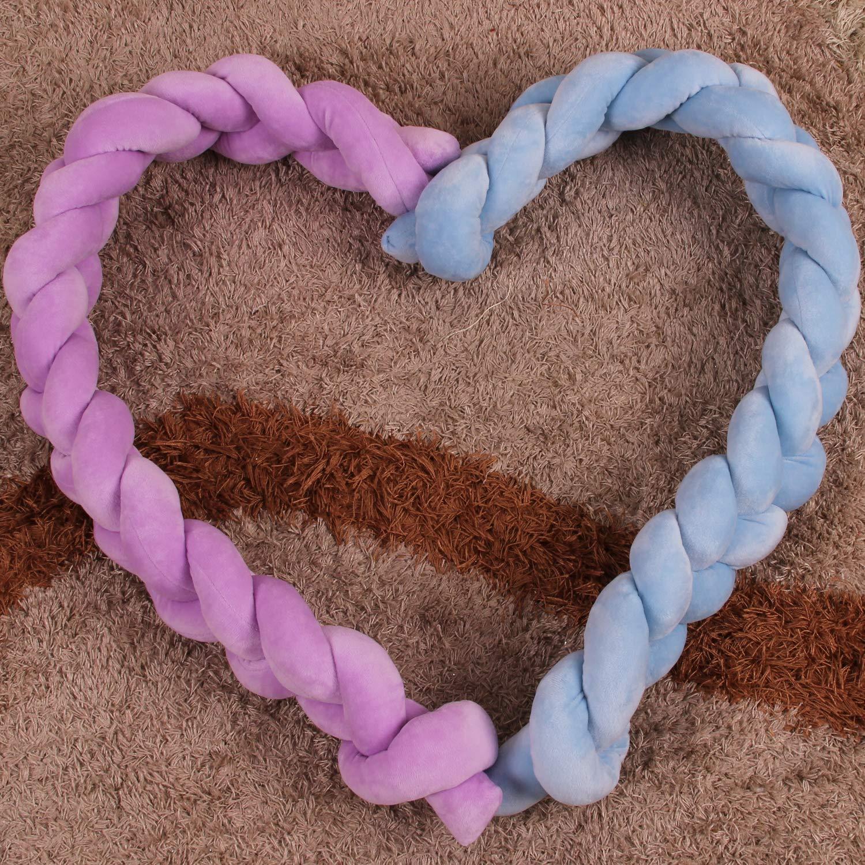 Youngshion Coj/ín trenzado para cuna de beb/é rosa rosa Talla:1 Meter