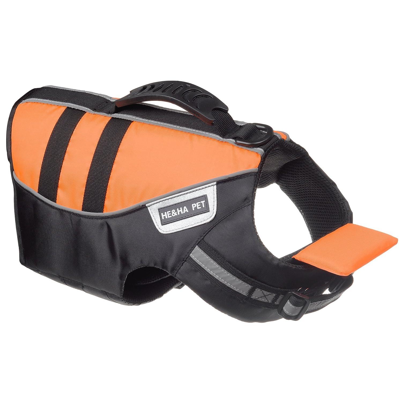 He&Ha pet Dog Life Jacket Dog Life Vest Chin Float Large Dogs High Buoyancy Secure Dog Life Preserver …