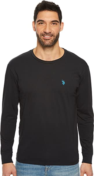 Mens Long Sleeve Crew Neck Solid Thermal Shirt Starbrite U.S Large Polo Assn